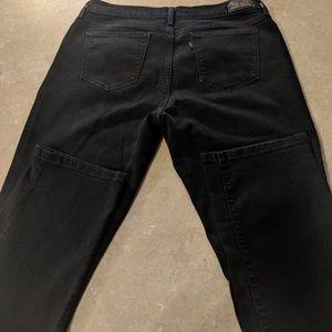 Women's 505 black straight leg jeans